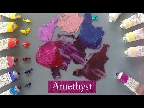 Michael Harding's Amethyst oil colour demonstrated by Vicki Norman