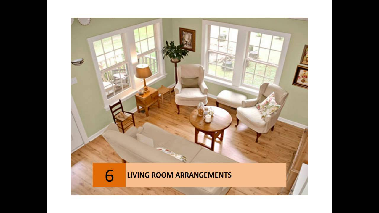 Ideas for small living room furniture arrangement youtube for Furniture arrangement