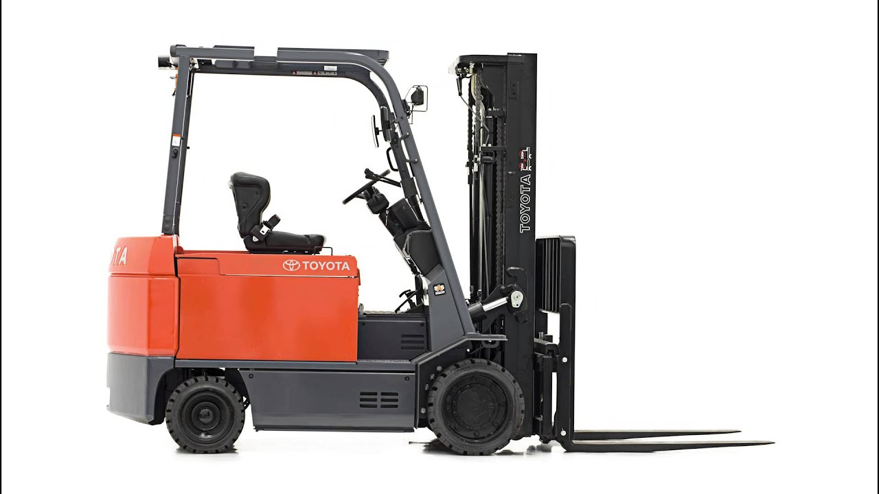 Toyota Electric Forklift Lever Layout : Toyota large electric forklift youtube