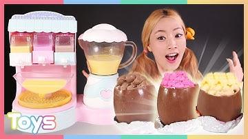 [엘리] 믹서로 섞는 구슬 아이스크림 메이커로 달콤한 아이스크림 만들기 놀이   캐리와장난감친구들