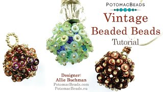 Make Vintage Beaded Balls (Pendants/Earrings/Beads)
