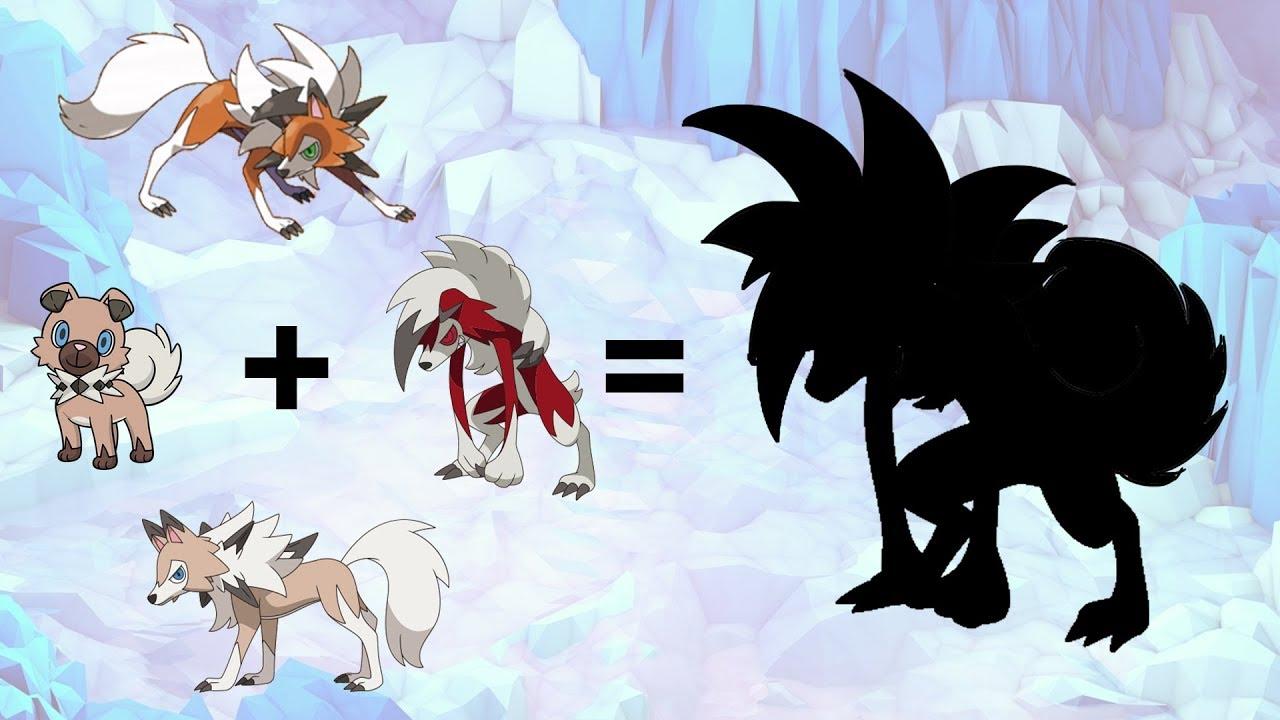 Pokemon Fusion Requests #114: Rockruff + Lycanroc Midday + ...