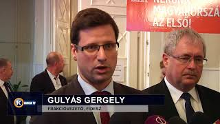 Gulyás Gergely sajtótájékoztató