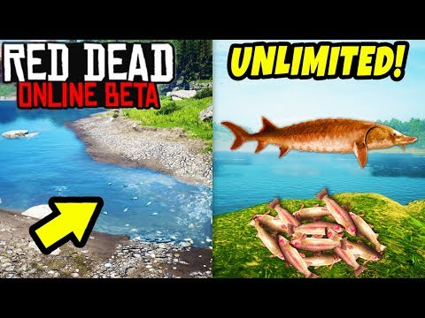 UNLIMITED FISH SPAWN EXPLOIT in Red Dead Online! Fast MONEY & Secret GLITCH Location RDR2!