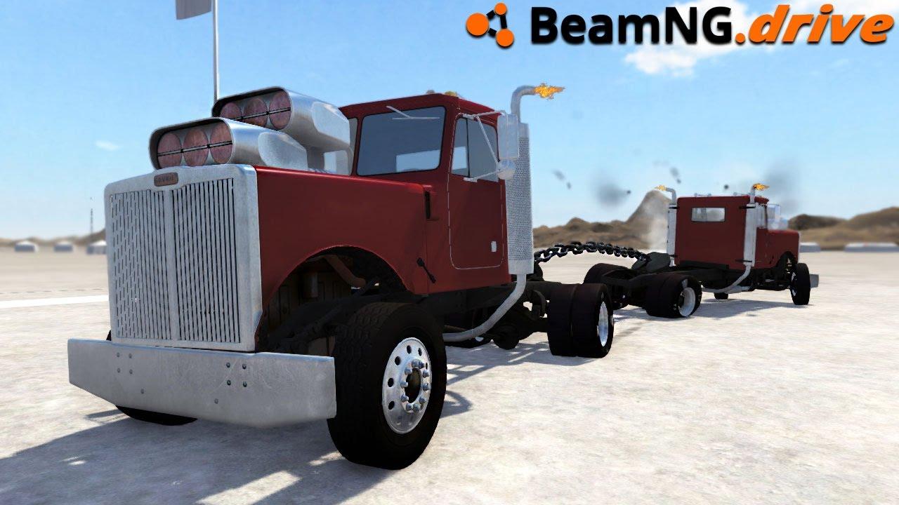 BeamNG drive - 2200HP TUG OF WAR