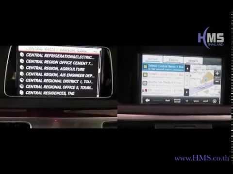 วีดีโอเปรียบเทียบการใช้งานแผนที่ Benz OEM Original กับ แผนที่ Speednavi by HMS