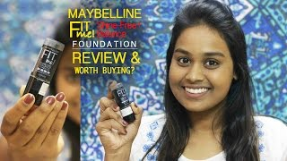 MAYBELLINE FIT ME STICK FOUNDATION REVIEW | Shine Free + Balance foundation | IS IT WORTH BUYING?