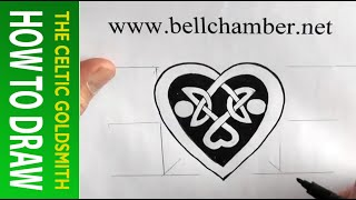 How to Draw Celtic Patterns 143 - Lovers Hearts interlace Part 2 of 2