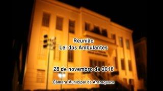 Reunião - Lei dos ambulantes 28/11/2016