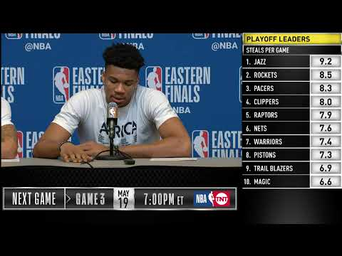 Giannis, Ersan Ilyasova, & George Hill Press Conference | Eastern Conference Finals Game 2