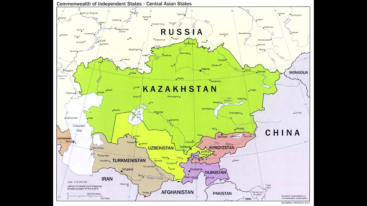 Central asian countries and capitals - YouTube