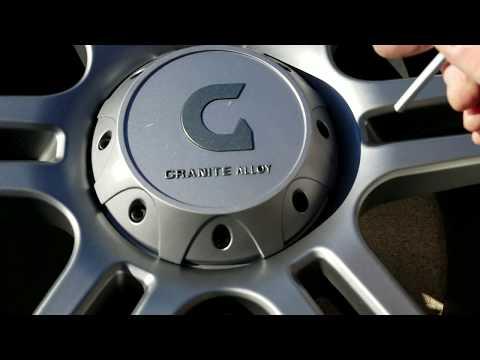 Granite Alloy Rims hub cap removal