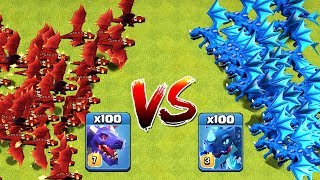 100 MAX ELECTRO DRAGON VS 100 MAX DRAGON ATTACK ON COC | CLASH OF CLANS TH12 UPDATE | NEW TROOPS