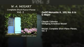Zwölf Menuette K. 103, No. 6 in G Major