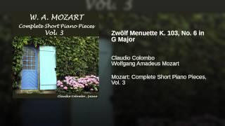 Zwölf Menuette K. 103, No. 6 in G Major