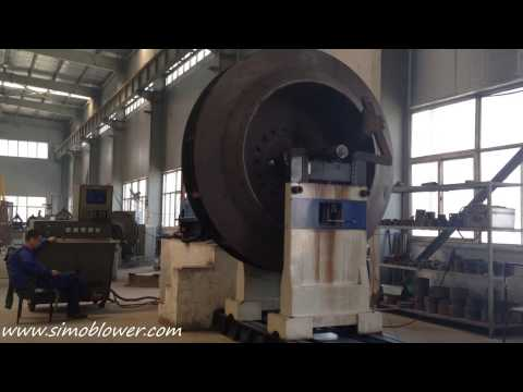 Large air flow centrifugal fan impeller dynamic balance—SIMO Blower
