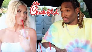 WE'RE ON A TV SHOW!! Chick-Fil-A MUKBANG