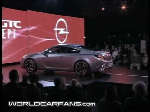 Opel Gtc Concept Unveiling Youtube