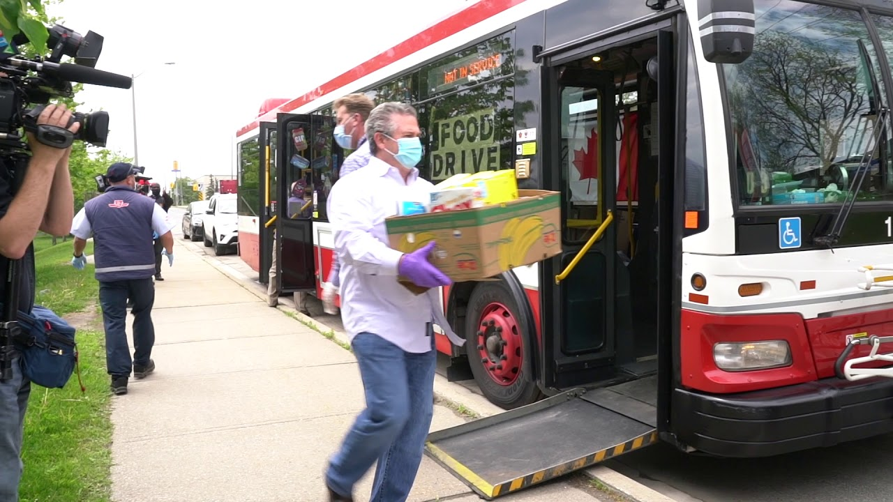 TTC Stuff the Bus food drive for the Daily Bread Food Bank