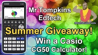 GCSE 2019 Summer Giveaway Casio FX-CG50 - Take a break from AQA / EDEXCEL / OCR revision and win!