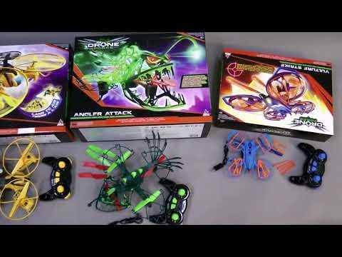 Обзор дронов Stinger, Vulture Strike, Angler Attack, Morph-Zilla от Auldey