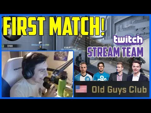 SHROUD PLAYING CSGO WITH HIS NEW TEAM! (w/ n0thing, sgares, Fifflaren, lurppis)
