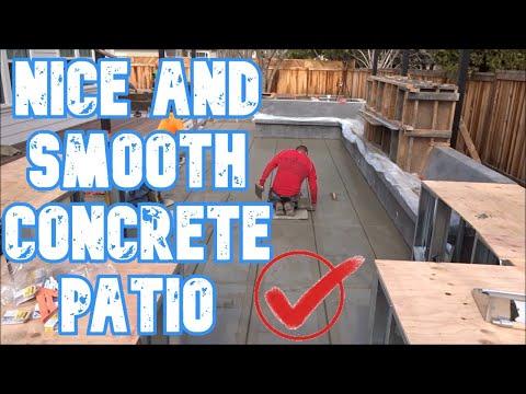 Smooth Concrete Patio; Walnut Creek, CA - All Access 510-701-4400