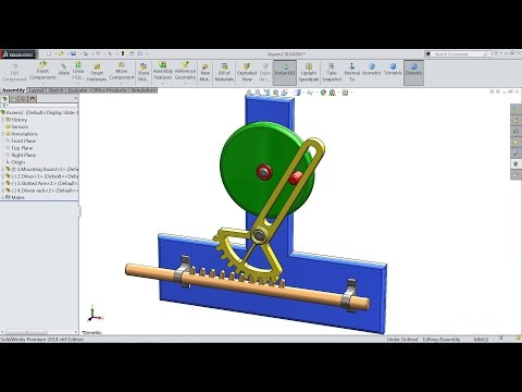 Solidworks tutorial | study of Reciprocating motion (Animati
