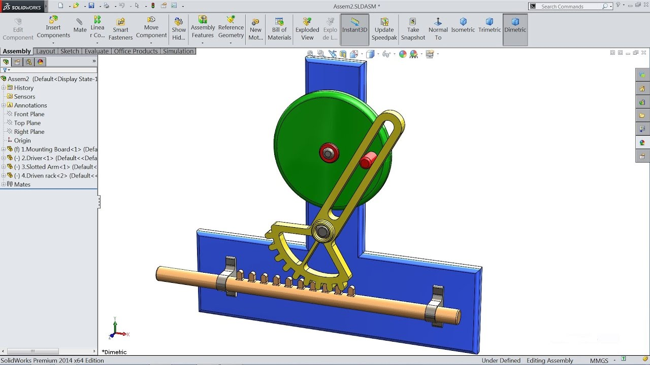 Solidworks tutorial study of reciprocating motion animation in solidworks tutorial study of reciprocating motion animation in solidworks youtube baditri Image collections