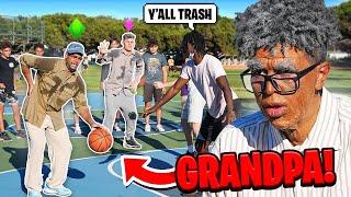 Grandpas Play Basketball at the Park vs Trash Talking Hoopers!