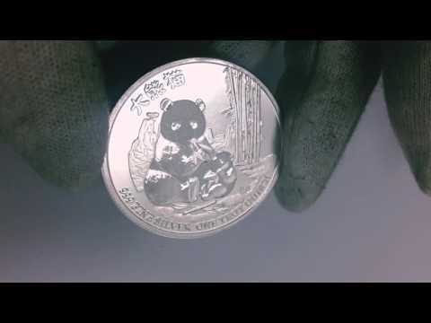 2017 1 oz Niue Silver Panda $2 BU Coin