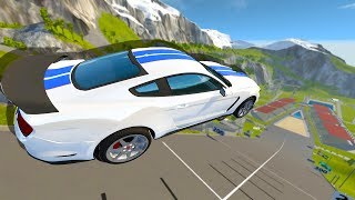 FORD MUSTANG GT350R VS CAR JUMP ARENA! - BeamNG Drive Car Mods