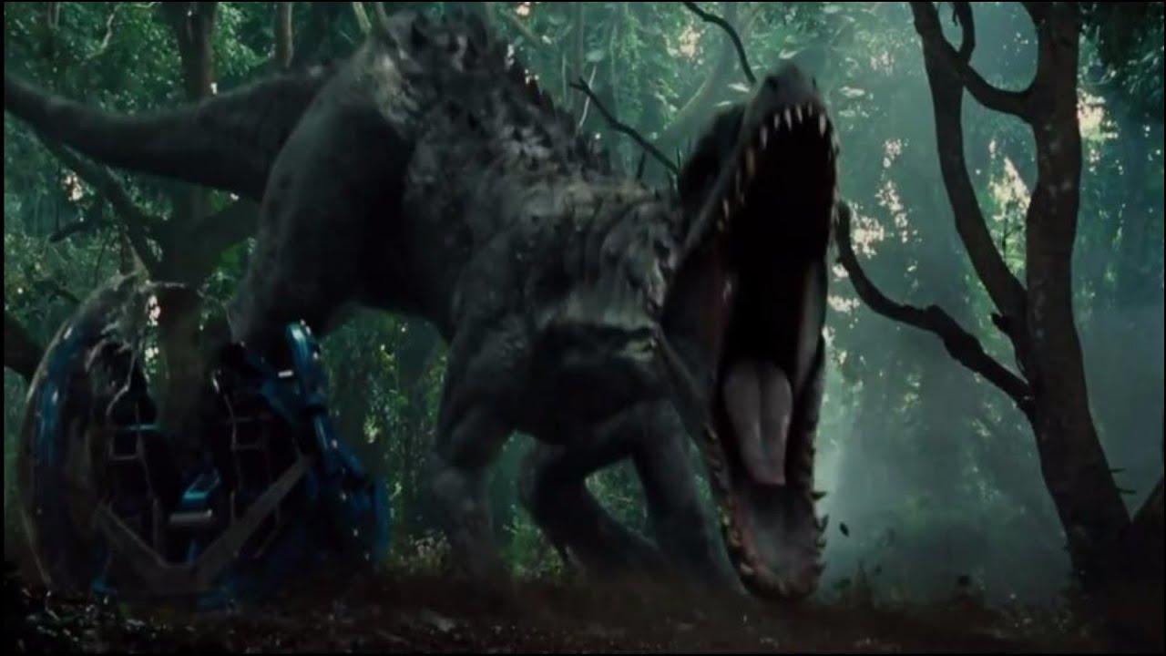 3d Wallpaper For Tv Unit Indominus Rex W Godzilla Roar Youtube