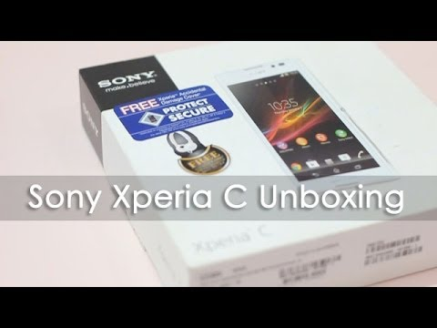 Sony Xperia C Unboxing & Overview