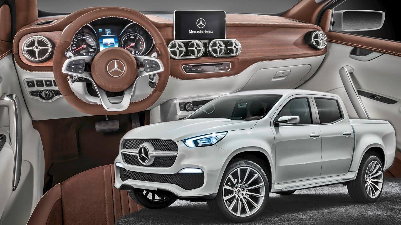 mercedes x class pickup interior stylish explorer youtube. Black Bedroom Furniture Sets. Home Design Ideas