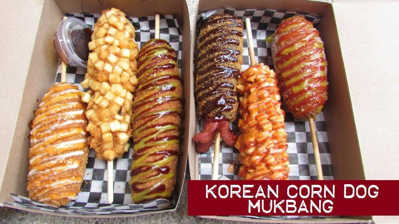 Toronto S Korean Corn Dogs Mukbang Chung Chun Rice Dog Youtube