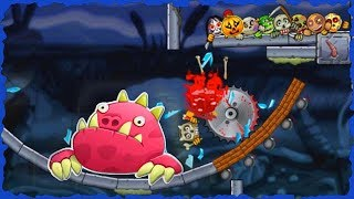 Roly Poly Monsters Pink Monster King Mobile Game Level 1-20