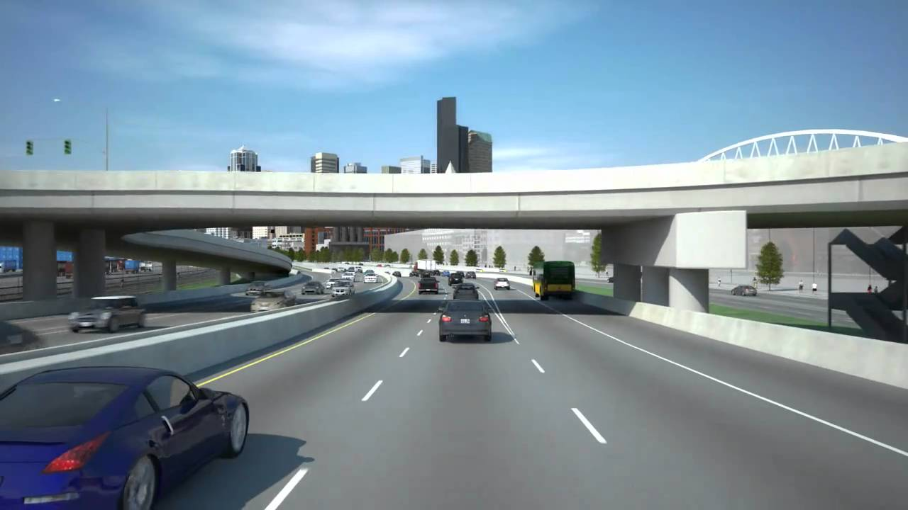 Highway 99 Alaskan Way tunnel simulation