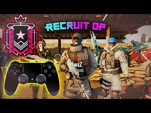 The Recruit CHAMPION + BEST Controller SETTINGS PS4/XBOX - Rainbow Six Siege - Ranked HighLights