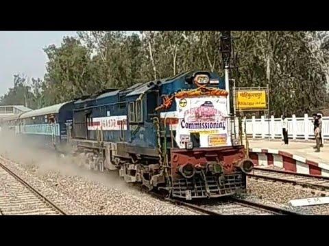 Sitapur Jn -Daliganj Jn Speed trial @120 kmph - सीतापुर डालीगंज 120 की रफ़्तार से ट्रायल