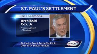 St. Paul's School settles lawsuit over sexual assault