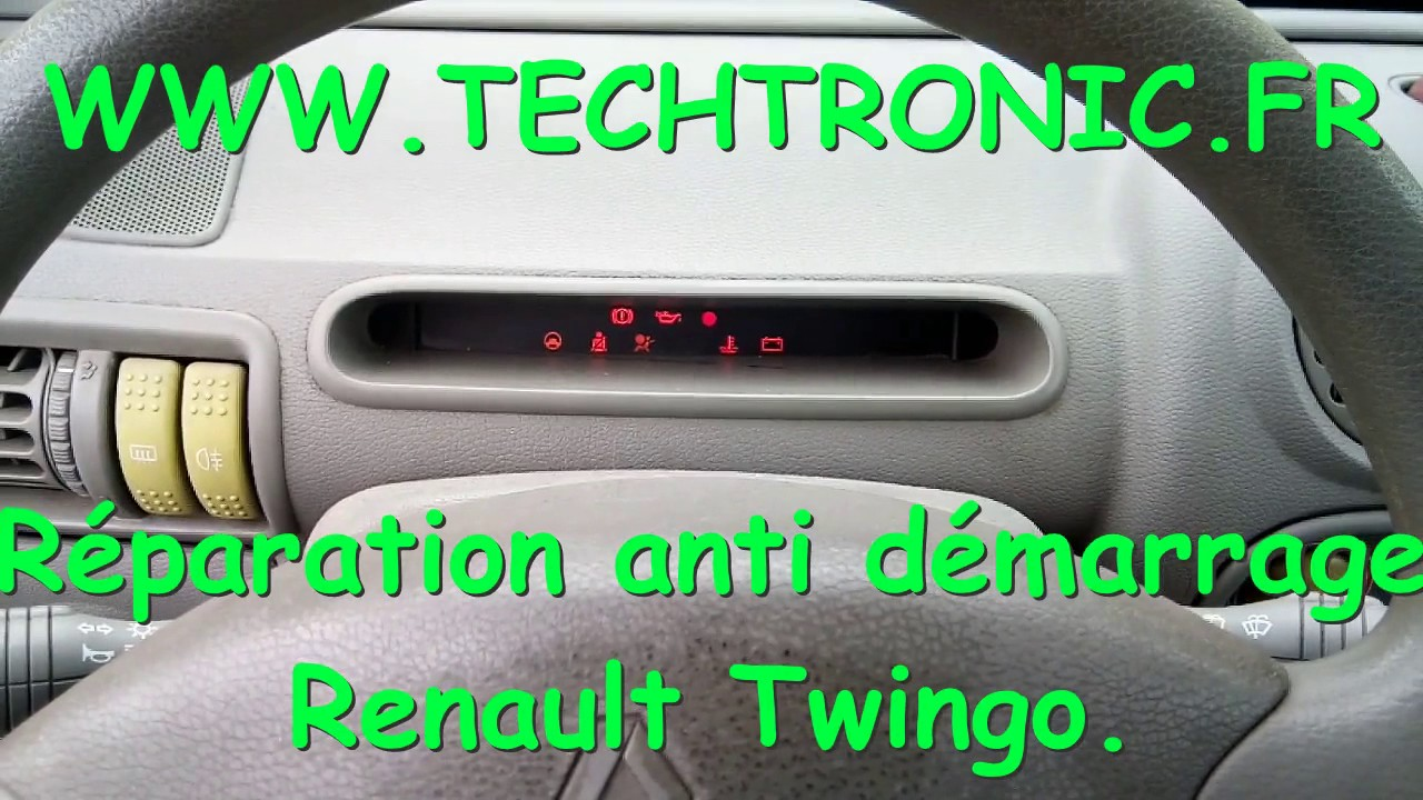 r paration anti d marrage renault twingo youtube. Black Bedroom Furniture Sets. Home Design Ideas
