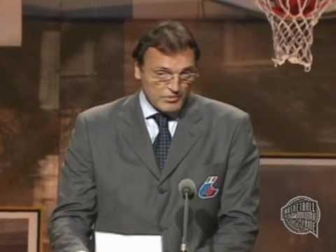 Dino Meneghin's Basketball Hall of Fame Enshrinement Speech
