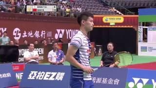 Yonex Open Chinese Taipei 2016 | Badminton F M4-MS | Chou Tien Chen vs Qiao Bin