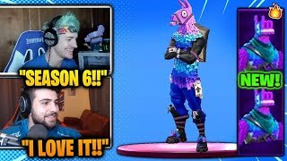 *NEW* DJ LLAMA SKIN! (NINJA & STREAMERS REACT!) *FORTNITE SEASON 6 LEAK*