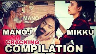 Skin Cracking, finger cracking, Neck Cracking Compilation BY MIKKU   MANOJ MASTER   REIKI MASTER