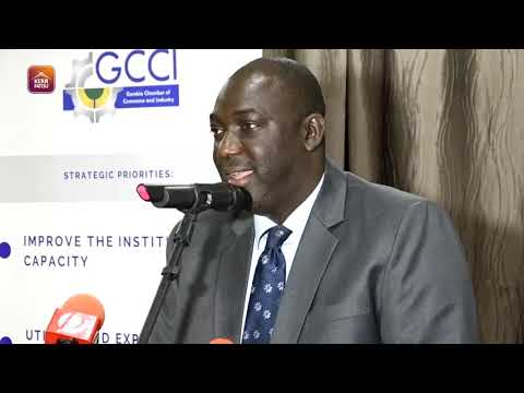 Lamin Sanneh of OIC Gambia Speaking at the GCCI Town Hall