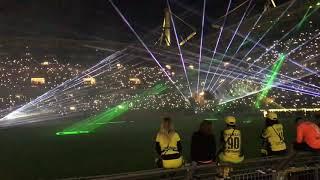 BVB komplette Lasershow des Abschiedsspiel von Roman Weidenfeller  07.09.2018