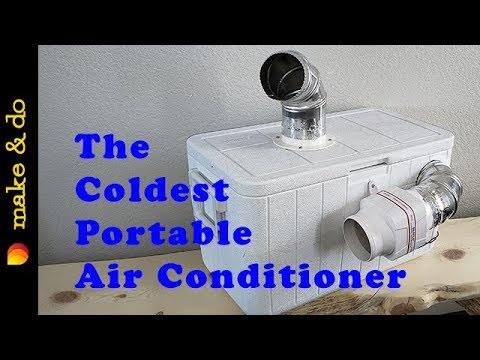 Homemade Portable Air Conditioner DIY - Coldest One Yet!