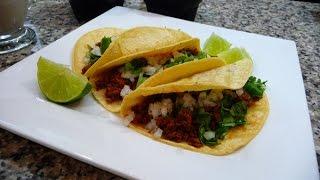 Tacos De Adobada, Y Salsa Verde Con Aguacate Receta Facil, Comida Mexicana